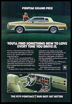 Pontiac Grand Prix GM Automobile Car 1979 Photo Ad - Paperink Graphics