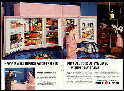 PINK Wall Refrigerator Freezer GE 2 Page 1955 AD