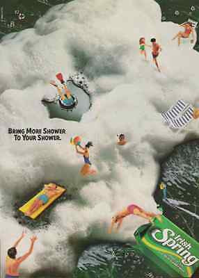 Irish Spring Soap Skin Cleaning AD 1989 Summer Fun Sports Suds Colgate Palmolive