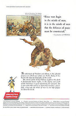 America Fore 1961 Insurance Ad Battle of the Alamo F.C. Yohn Art