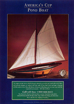 1980s Ad Pond Boat Americas Cup Replica 1930s J-boat Model - Paperink Graphics