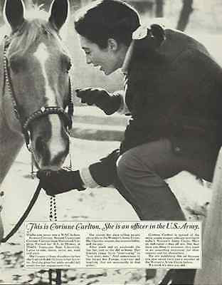 Horse Equestrian Vintage 1967 WAC Army Recruitment Photo Illustration AD