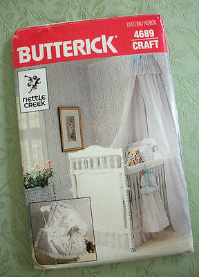 Babies Crib Sewing Pattern Butterick 4689 Uncut Baby Nursery Accessories Crafts