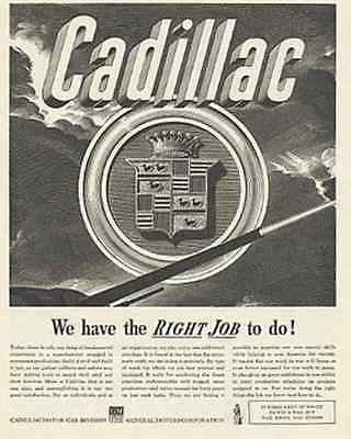 Cadillac Logo 1942 Tank Firing WWII Armament Work Ad - Paperink Graphics