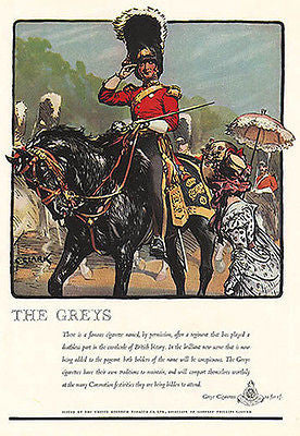 Mounted Horse British Soldier Red Coat 1937 Clark Graphic Art Print The Greys AD