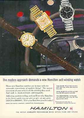 Hamilton Watches Ad Self-Winding Watch 1956 Advertisement
