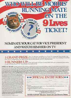 Morris Veep Search 1988 Cat Photo Contest Ad