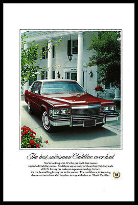Cadillac 1979 Ad  Red White Luxury 4 door Autotomobile Car Photo Print Advert