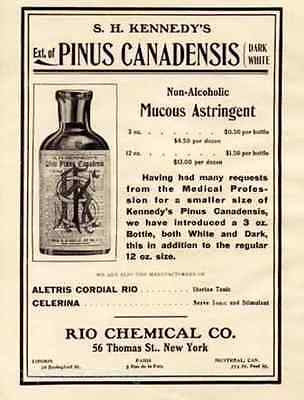 1904 Kennedys Pinus Canadensis Drug Store Bottle Ad - Paperink Graphics
