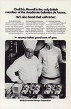 Chefs Hats 1971 Ad Culinary Food Preparation British Airways Airlines BOAC - Paperink Graphics