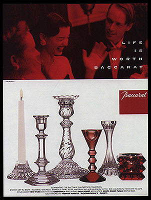 Baccarat Candlestick Collection 1998 Photo Ad Good Company - Paperink Graphics