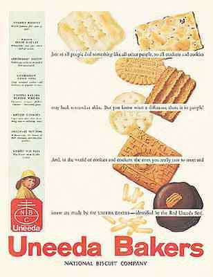 Uneeda Bakers National Biscuit Cookies 1931 Ad - Paperink Graphics