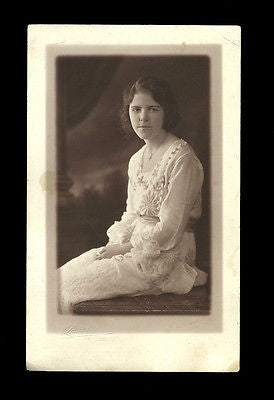 Teen Woman Photograph Louis Oliver Studio Portrait Beautiful Textile Applique?