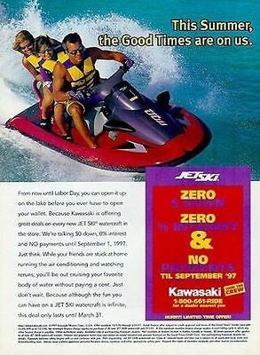 Kawasaki Jet Ski Watercraft Summer Fun Action 1997 AD