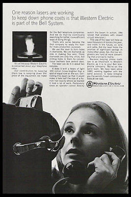 Coin Operated Telephone Laser Computer Technology 1966 Photo Ad - Paperink Graphics