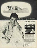 French Man 1966 Smatex Bed Mattress French Guy in Pajamas AD - Paperink Graphics