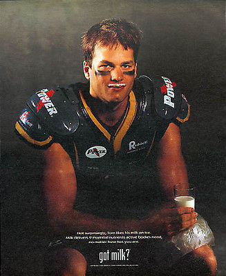 Tom Brady got milk? 2002 Ad Dairy Football Patriots