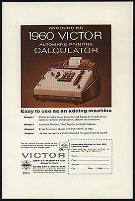 Victor CALCULATOR Automatic Printing 1960 AD