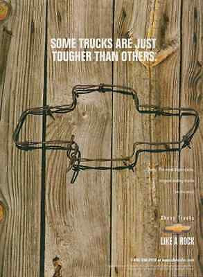 Barbed Wire Trucks Chevy Ad  Rugged Like a Rock 1997 GM Chevrolet