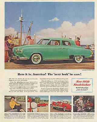 Studebaker Champion Mid Century Modern Photo 1950 Ad
