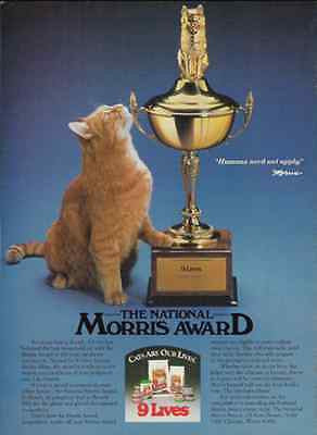 Morris CAT Ad Trophy Feline Domestic Diva 1988 Photo Illustration Ad Home Decor