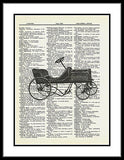 Speedway Antique Toy Car Spoke Pedal Car Dictionary Art Print fun026