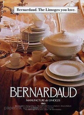 Bernardaud Louvre Collection Limoges 1996 Dinnerware Decor Ad - Paperink Graphics