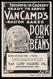 Chef Van Camp AD Boston Baked Pork Beans Chef Oven 1896 Food - Paperink Graphics