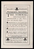 1907 Antique Ad Millen Photographic Developer Dry Plates Films