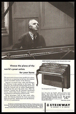 Robert Casadesus Steinway Grand Piano 1952 Photo Ad