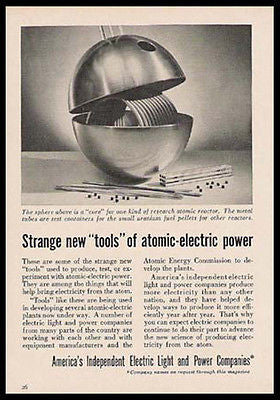 Atomic Reactor Uranium Sphere Core 1957 Photo Ad