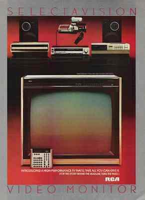 RCA TV Television Video Monitor Digital 1983 Photo AD