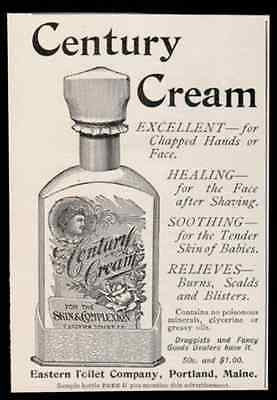Century Cream Heals Skin Superb Bottle Graphics 1894 AD
