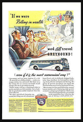 Greyhound Bus Ad Marriage Dreams Transportation Romance Advertising 1938