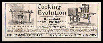 Kitchen Stove Antique 1893 Ad Evaporating Vapor Stove Cooking Kitchen