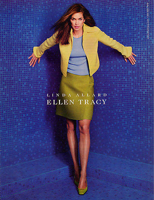 Cindy Crawford Fashion Ellen Tracy Womens Clothing 2000 Ad