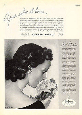 Richard Hudnut Du Barry Beauty Creams Lotions Vogue 1935 Ad Major Felten Artist