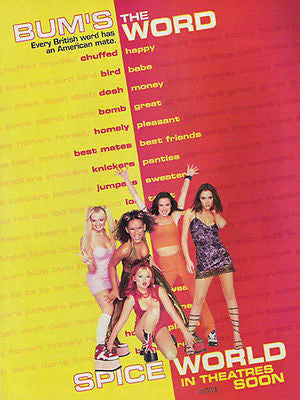 Spice Girls Spice World 1998 Promo Photo  AD Bum's The Word