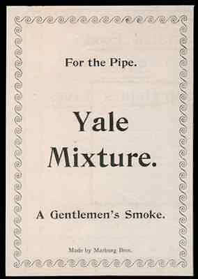 Yale Pipe Mixture Tobacco A Gentlemen's Smoke 1893 Antique Tobacciana Small Ad