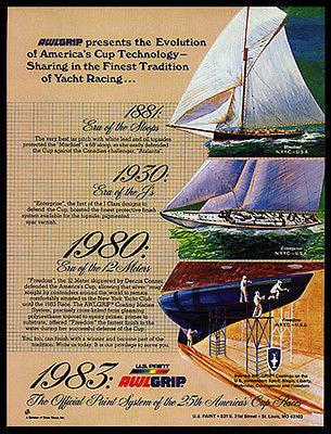 America's Cup Yacht Racing Technology Sloop J's 12 Meter 1983 AD - Paperink Graphics