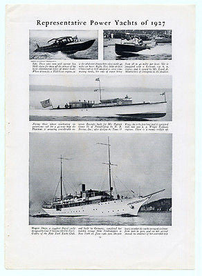 Yachting Power Yachts of 1927 Photo Illustrated Motor Boat Diesel Yacht