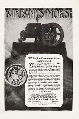 Fairbanks-Morse Z 1920 Ad Engine Tractor