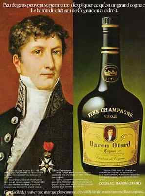 Cognac Baron Otard France 1973 French AD Otard Portrait Bottle