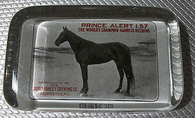 Hanley Brewing Antique Advertising Collectible Paperweight Prince Alert Champion Horse - Paperink Graphics