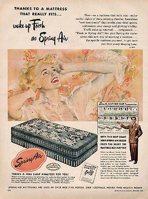 Classic Beautiful Blond Spring Air Mattress 1950 AD - Paperink Graphics