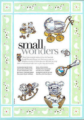 1998 Swarovski Magazine AD Small Wonders Baby Nursery Crystal Mementos - Paperink Graphics