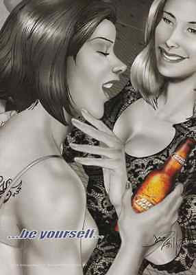 Fantasy BUD Light Beer Women Gay Interest 2004 Graphic Art Ad - Paperink Graphics