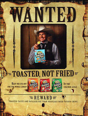 "Wanted Reward Ritz Crackers 2007 Sheriff Ad ""Wanted Poster"" Graphic Art Design - Paperink Graphics"