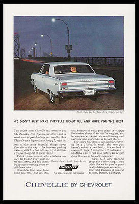 Chevrolet Chevelle Malibu Super Sport Coupe 1964 Photo Ad