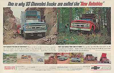 Chevrolet Trucks 10 Models 2pg Photo 1963 Ad - Paperink Graphics